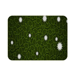 Graphics Green Leaves Star White Floral Sunflower Double Sided Flano Blanket (mini)  by Alisyart