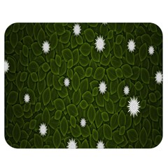 Graphics Green Leaves Star White Floral Sunflower Double Sided Flano Blanket (medium)  by Alisyart