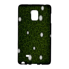 Graphics Green Leaves Star White Floral Sunflower Galaxy Note Edge