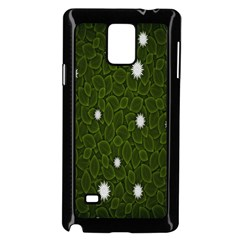 Graphics Green Leaves Star White Floral Sunflower Samsung Galaxy Note 4 Case (black) by Alisyart