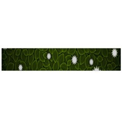 Graphics Green Leaves Star White Floral Sunflower Flano Scarf (large) by Alisyart