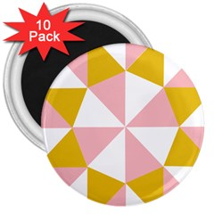 Learning Connection Circle Triangle Pink White Orange 3  Magnets (10 Pack)