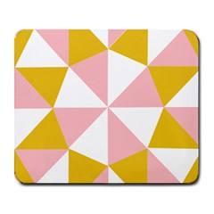Learning Connection Circle Triangle Pink White Orange Large Mousepads by Alisyart