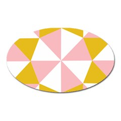 Learning Connection Circle Triangle Pink White Orange Oval Magnet
