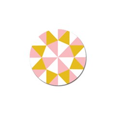 Learning Connection Circle Triangle Pink White Orange Golf Ball Marker