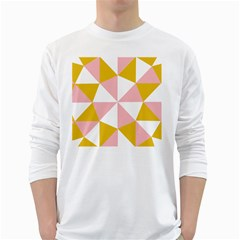 Learning Connection Circle Triangle Pink White Orange White Long Sleeve T Shirts