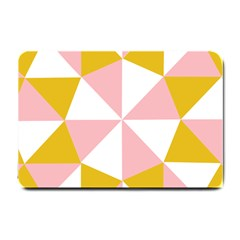 Learning Connection Circle Triangle Pink White Orange Small Doormat  by Alisyart