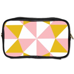 Learning Connection Circle Triangle Pink White Orange Toiletries Bags by Alisyart