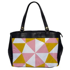 Learning Connection Circle Triangle Pink White Orange Office Handbags by Alisyart