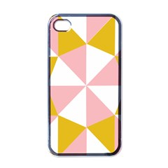 Learning Connection Circle Triangle Pink White Orange Apple Iphone 4 Case (black) by Alisyart