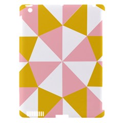 Learning Connection Circle Triangle Pink White Orange Apple Ipad 3/4 Hardshell Case (compatible With Smart Cover)