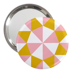 Learning Connection Circle Triangle Pink White Orange 3  Handbag Mirrors