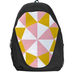 Learning Connection Circle Triangle Pink White Orange Backpack Bag by Alisyart
