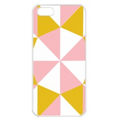 Learning Connection Circle Triangle Pink White Orange Apple Iphone 5 Seamless Case (white) by Alisyart