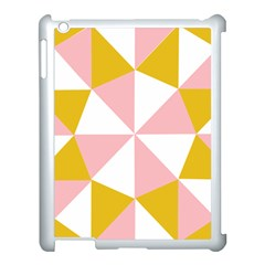 Learning Connection Circle Triangle Pink White Orange Apple Ipad 3/4 Case (white)