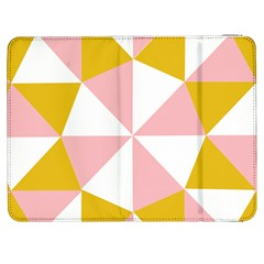 Learning Connection Circle Triangle Pink White Orange Samsung Galaxy Tab 7  P1000 Flip Case