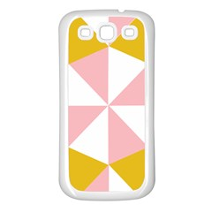 Learning Connection Circle Triangle Pink White Orange Samsung Galaxy S3 Back Case (white)