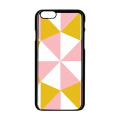 Learning Connection Circle Triangle Pink White Orange Apple Iphone 6/6s Black Enamel Case by Alisyart