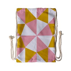 Learning Connection Circle Triangle Pink White Orange Drawstring Bag (small) by Alisyart