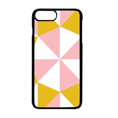 Learning Connection Circle Triangle Pink White Orange Apple Iphone 7 Plus Seamless Case (black) by Alisyart