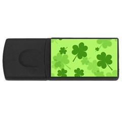 Leaf Clover Green Line Usb Flash Drive Rectangular (4 Gb) by Alisyart