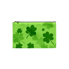 Leaf Clover Green Line Cosmetic Bag (small)  by Alisyart