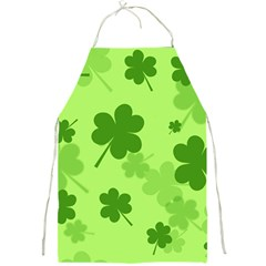 Leaf Clover Green Line Full Print Aprons by Alisyart
