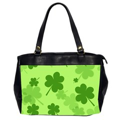 Leaf Clover Green Line Office Handbags (2 Sides)  by Alisyart