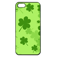 Leaf Clover Green Line Apple Iphone 5 Seamless Case (black) by Alisyart
