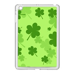 Leaf Clover Green Line Apple Ipad Mini Case (white)