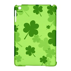 Leaf Clover Green Line Apple Ipad Mini Hardshell Case (compatible With Smart Cover) by Alisyart