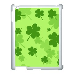 Leaf Clover Green Line Apple Ipad 3/4 Case (white)