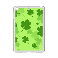 Leaf Clover Green Line Ipad Mini 2 Enamel Coated Cases by Alisyart