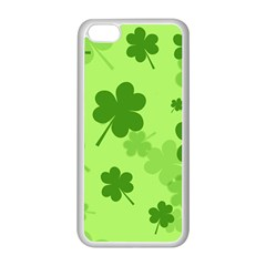 Leaf Clover Green Line Apple Iphone 5c Seamless Case (white) by Alisyart