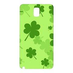 Leaf Clover Green Line Samsung Galaxy Note 3 N9005 Hardshell Back Case by Alisyart
