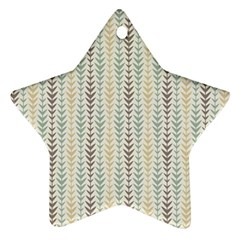 Leaf Triangle Grey Blue Gold Line Frame Star Ornament (two Sides) by Alisyart