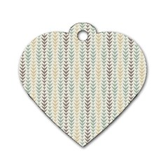 Leaf Triangle Grey Blue Gold Line Frame Dog Tag Heart (one Side)