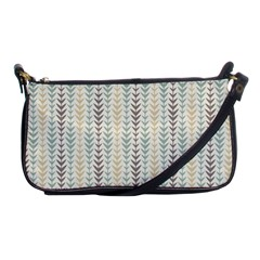 Leaf Triangle Grey Blue Gold Line Frame Shoulder Clutch Bags by Alisyart