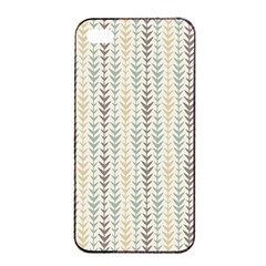Leaf Triangle Grey Blue Gold Line Frame Apple Iphone 4/4s Seamless Case (black) by Alisyart