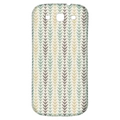 Leaf Triangle Grey Blue Gold Line Frame Samsung Galaxy S3 S Iii Classic Hardshell Back Case