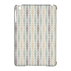 Leaf Triangle Grey Blue Gold Line Frame Apple Ipad Mini Hardshell Case (compatible With Smart Cover) by Alisyart