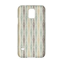 Leaf Triangle Grey Blue Gold Line Frame Samsung Galaxy S5 Hardshell Case