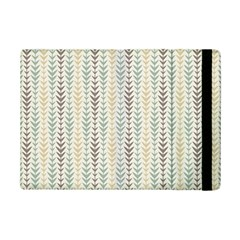 Leaf Triangle Grey Blue Gold Line Frame Ipad Mini 2 Flip Cases by Alisyart