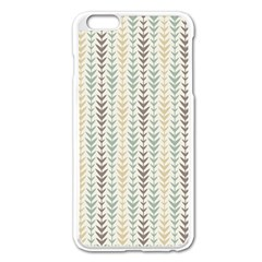 Leaf Triangle Grey Blue Gold Line Frame Apple Iphone 6 Plus/6s Plus Enamel White Case