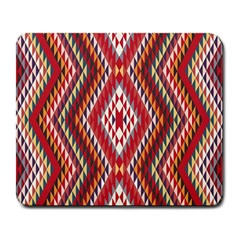 Indian Pattern Sweet Triangle Red Orange Purple Rainbow Large Mousepads by Alisyart