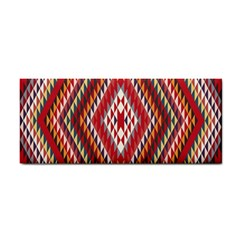 Indian Pattern Sweet Triangle Red Orange Purple Rainbow Cosmetic Storage Cases