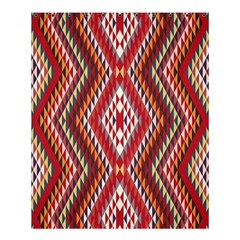 Indian Pattern Sweet Triangle Red Orange Purple Rainbow Shower Curtain 60  X 72  (medium)  by Alisyart