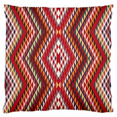 Indian Pattern Sweet Triangle Red Orange Purple Rainbow Large Cushion Case (one Side)