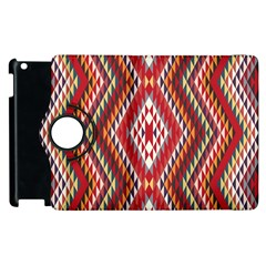 Indian Pattern Sweet Triangle Red Orange Purple Rainbow Apple Ipad 3/4 Flip 360 Case by Alisyart
