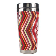 Indian Pattern Sweet Triangle Red Orange Purple Rainbow Stainless Steel Travel Tumblers by Alisyart